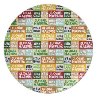Global Warming Hoax Plate