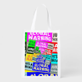 Global Warming Hoax Reusable Grocery Bag