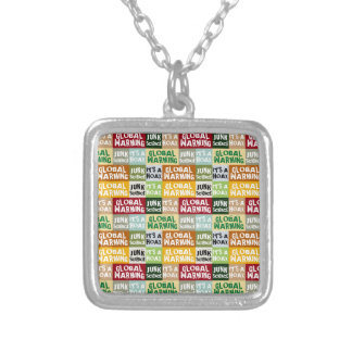 Global Warming Hoax Silver Plated Necklace