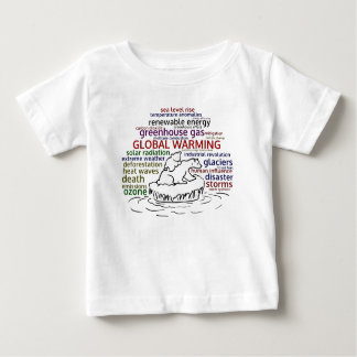 Global Warming impacts Polar Bear and cub Baby T-Shirt