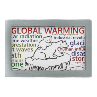 Global Warming impacts Polar Bear and cub Belt Buckles
