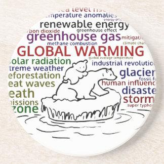 Global Warming impacts Polar Bear and cub Coaster