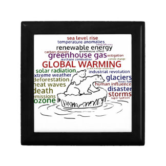 Global Warming impacts Polar Bear and cub Gift Box