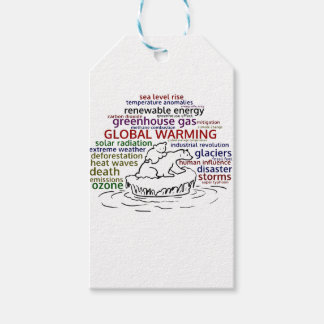 Global Warming impacts Polar Bear and cub Gift Tags