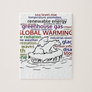 Global Warming impacts Polar Bear and cub Jigsaw Puzzle
