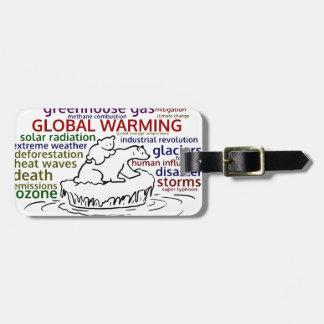 Global Warming impacts Polar Bear and cub Luggage Tag
