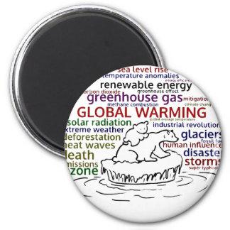 Global Warming impacts Polar Bear and cub Magnet