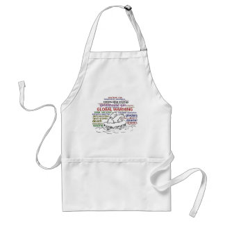 Global Warming impacts Polar Bear and cub Standard Apron