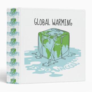 Global Warming is so Uncool 3 Ring Binders