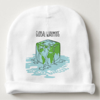 Global Warming is so Uncool Baby Beanie