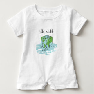 Global Warming is so Uncool Baby Romper
