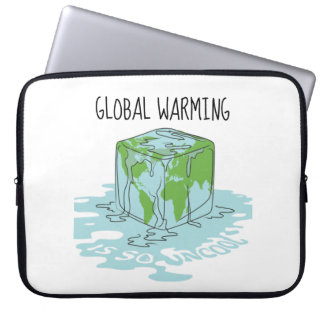Global Warming is so Uncool Laptop Sleeve