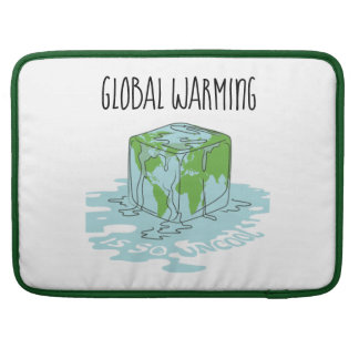 Global Warming is so Uncool Sleeve For MacBook Pro