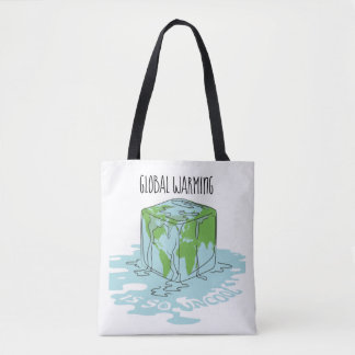 Global Warming is so Uncool Tote Bag