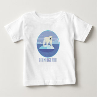 Global Warming Is Uncool Baby T-Shirt