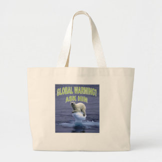 Global warming jumbo tote bag