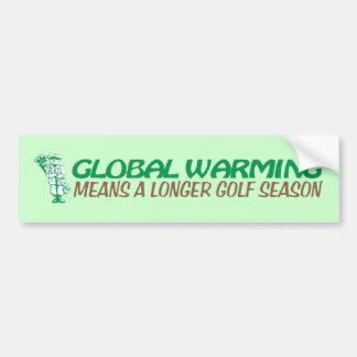 Global Warming Means A Longer Golf Season Bumper Sticker