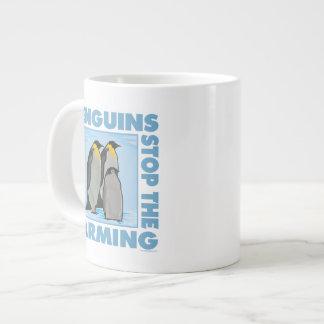 Global Warming, Penguins Large Coffee Mug