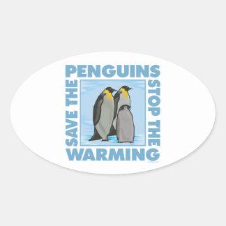 Global Warming, Penguins Oval Sticker
