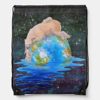 Global Warming Polar Bear and Cubs Backpacks