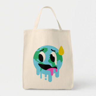 Global Warming Reusable Grocery Tote Bag