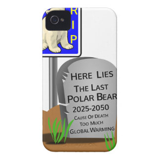 Global Warming,RIP Polar Bear 2050 iPhone 4 Covers