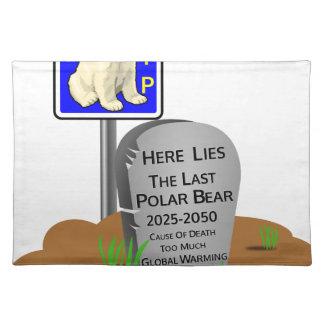 Global Warming,RIP Polar Bear 2050 Placemat