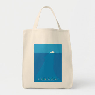 Global Warming Save the Polar Bear Grocery Tote Bag