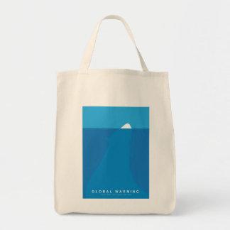 Global Warming Save the Polar Bear Grocery Tote Bag