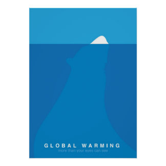 Global Warming Save the Polar Bear Poster