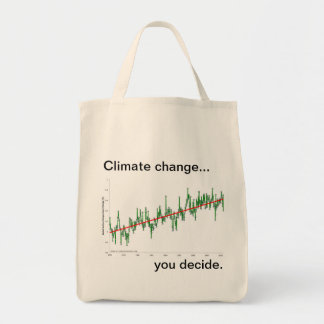 Global warming - show me the data tote bags