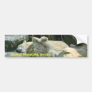 Global Warming Sucks! Polar Bear Bumpersticker Bumper Sticker