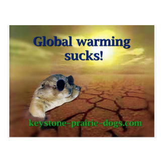 Global warming sucks postcard