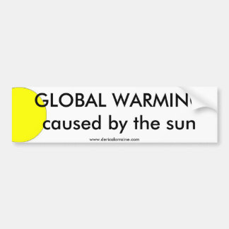 Global Warming Sun Bumper Sticker