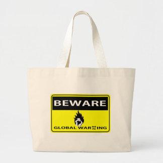 Global Warming/Warning Jumbo Tote Bag