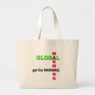 Global Warming Warning Jumbo Tote Bag