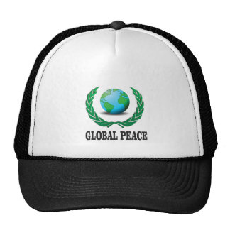 global wreath trucker hat