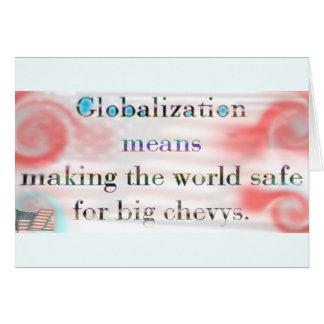 Globalization by USA (card) Card