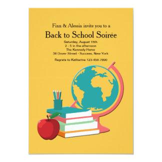 Globe and books Invitation