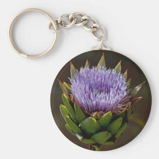 Globe Artichoke, Cynara Cardunculus, in flower. Keychains