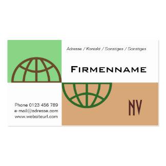 globe business card template