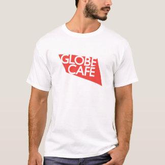 Globe Cafe red white T-Shirt