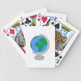 Globe Cartoon Bicycle Playing Cards