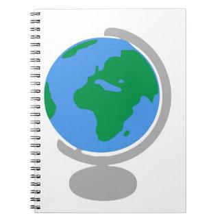 Globe Cartoon Notebook