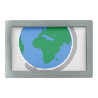 Globe Cartoon Rectangular Belt Buckle