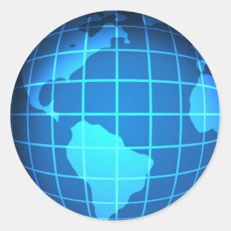 Globe Classic Round Sticker