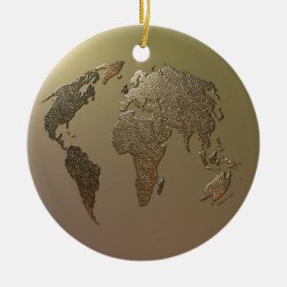 Globe d'or ornement rond en céramique