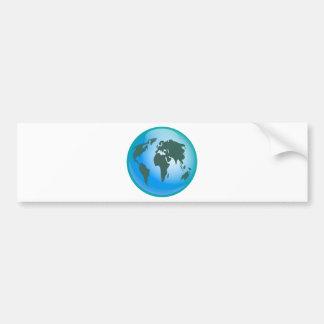 Globe du monde autocollant de voiture