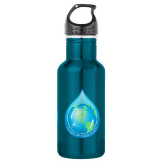 Globe In Waterdrop 532 Ml Water Bottle