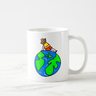 Globe Kid Coffee Mug